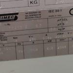 Motor specs. data