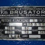 Motor specs data